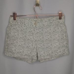 J.Crew Size 0 Shorts Green White Floral